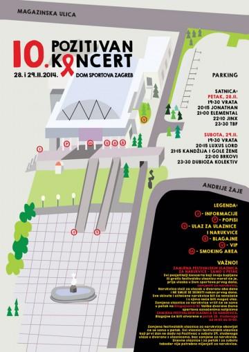Mapa 10. Pozitivnog koncerta
