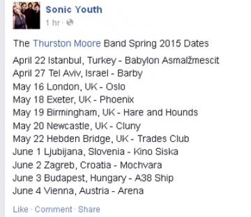 Popis koncertnih destinacija Thurstona Moorea