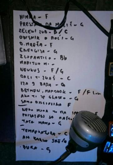 Set lista - Disciplina kičme, 13. ožujak 2015. Močvara