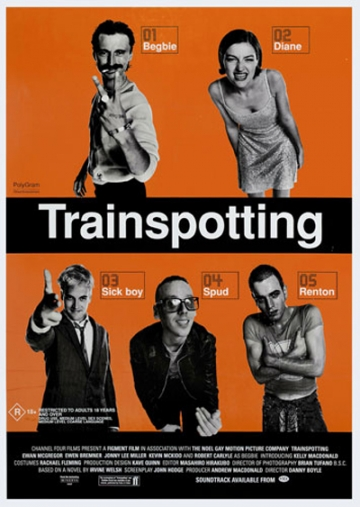 Plakat kultnog ostvarenja 'Trainspotting' iz 1996. godine