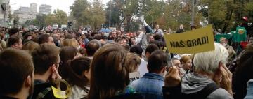 beogradski prosvjedi protiv projekta 'Beograd na vodi'