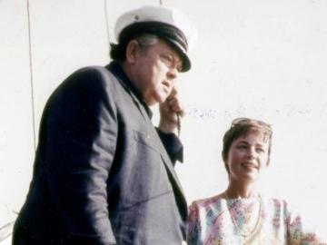 Orson Welles i Jeanne Moreau na Hvaru 1967. godine