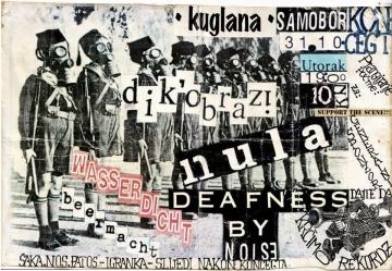 Plakat za koncert u Samoboru sa 'spornim' natpisom: 'Šaka, nos, patos – igranka'