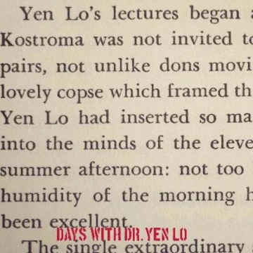 Dr. Yen Lo 'Days With Dr. Yen Lo'