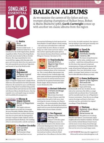 Songlines: Lista 10 esencijalnih albuma Balkana