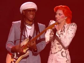 Nile Rodgers i Lady Gaga na 58. dodjeli Grammy nagrada