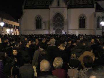 Prosvjed izdajnika na Markovom trgu (Foto: Zoran Stajčić)
