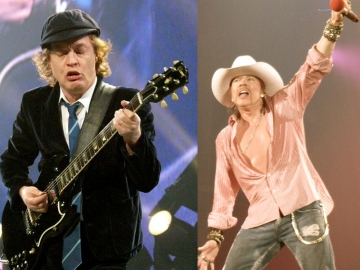 Angus Young i Axl Rose (Foto: Wikipedia)