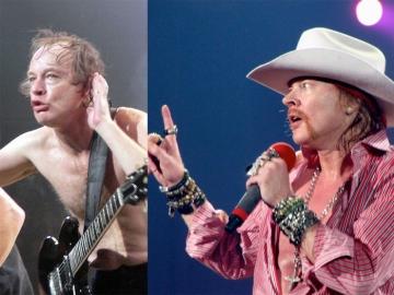 Angus Young i Axl Rose - nakon ovog transfera na nekim forumima fanovi su bend prozvali AXL/DC (Foto: Wikipedia)