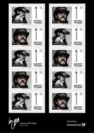 Lemmy Kilmister na njemačkim poštanskim markama