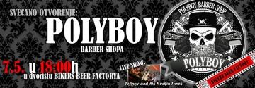 Otvorenje Polyboy barber shopa