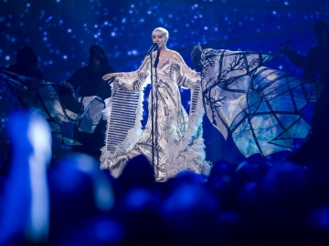 Nina Kraljić na Eurosongu (Foto: HRT)