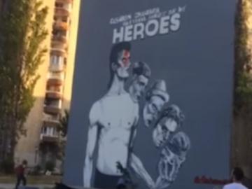 Svečano otkrivanje murala Davida Bowieja u Sarajevu (Izvor: Youtube)