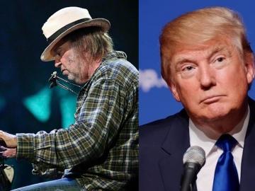 Neil Young i Donald Trump (Foto: Wikipedia)