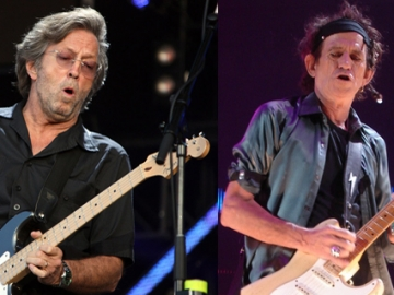 Eric Clapton i Keith Richards (Foto: Wikipedia)