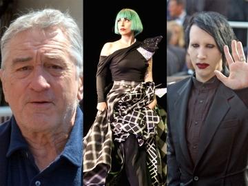 Robert De Niro, Lady Gaga i Marilyn Manson (Foto: Wikipedia)