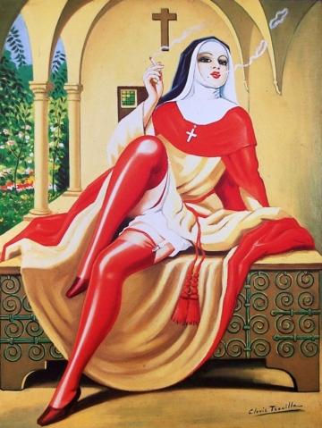 Clovis Trouille (1889-1975)  'La religieuse'