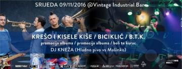 Krešo i Kisele Kiše i Biciklić promoviraju nove albume u Vintage Industrial Baru