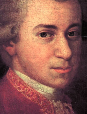 Mozart 1780. - fragment slike, autor: Johann Nepomuk della Croce