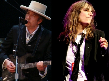 Bob Dylan i Patti Smith (Foto: Wikipedia)