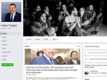 Facebook profil Ministra Orepića u trenutku postavljanja isprike dekanu FER-a zbog policijske racije u KSET-u