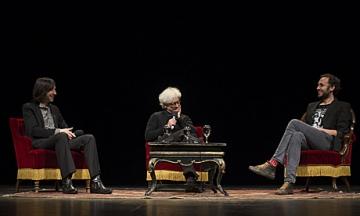Franco Berardi i Bobby Gillespie na Filozofskom teatru (Foto: Filozofski teatar)