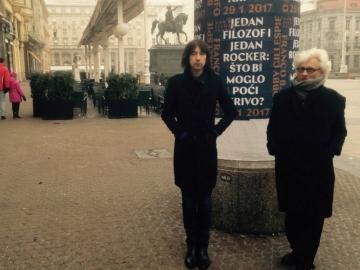 Franco Berardi i Bobby Gillespie (Foto: Filozofski teatar)