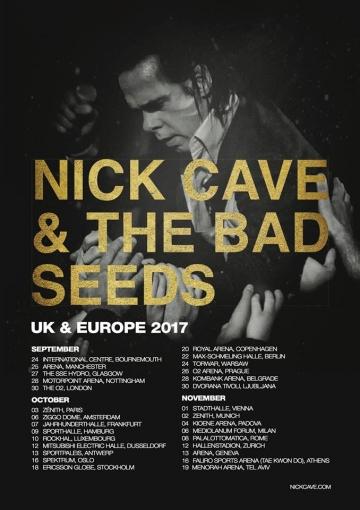 Nick Cave & The Bad Seeds - Britanije i Europa 2017.