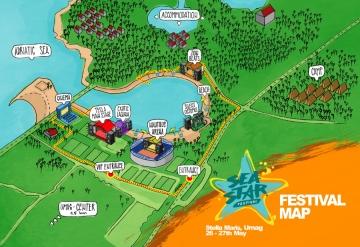 Mapa Sea Star Festivala u Umagu