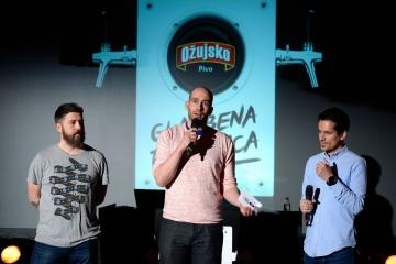Sanjin Đukić, Danijel Bilić i Ivan Šuvar na predstavljanju Ožujsko glazbene točionice u zagrebačkoj Pivani
