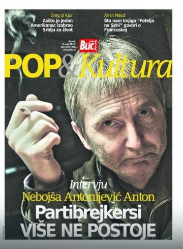 Anton na naslovnici Pop & Kultura - podlistka srpskog magazina Blic