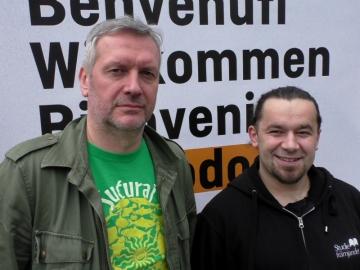 Luka Nenad Juranić i Perica Štefan iz Hangtime Agency (Foto: Zoran Stajčić)