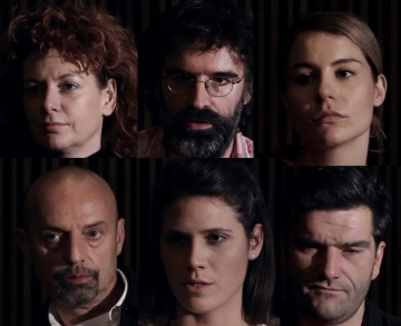 Nina Violić, Ante Perković, Tihana Lazović, Goran Grgić, Lukrecia Tudor i Bojan Navojec (Izvor: Montažstroj)