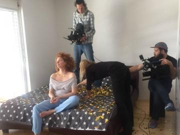 Nina Violić na snimanju spota 'K1' Pips Chips & Videoclipsa