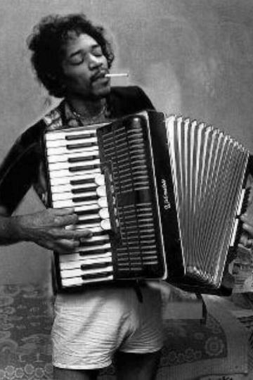 Jimi Hendrix (fotomontaža nepoznatog autora)