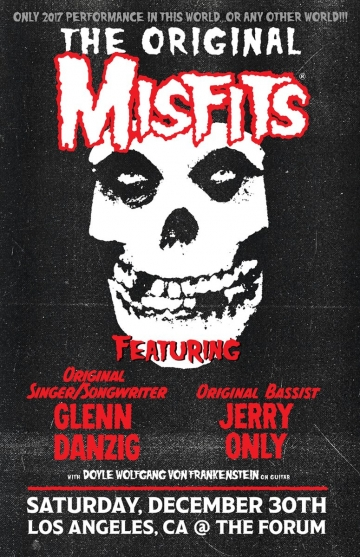 Originalni Misfits na jedninom koncertu ove godine