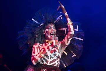 Grace Jones na ovorenju Dimensions festivala u Areni u Puli (Foto: Vedran Metelko)