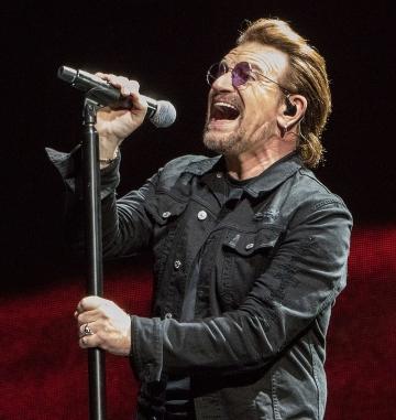 Bono Vox u Indianapolisu na Joshua Tree Touru 2017 snimljen 10. rujna 2017. (Foto: Wikipedia)