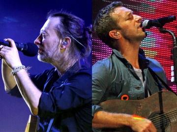 Thom Yorke i Chris Martin (Foto: Wikipedia)