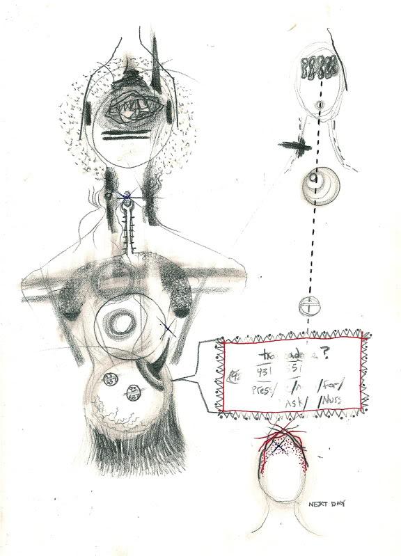 Bryan Lewis Saunders - autoportret, korištena droga: Trazadone (100 mg)