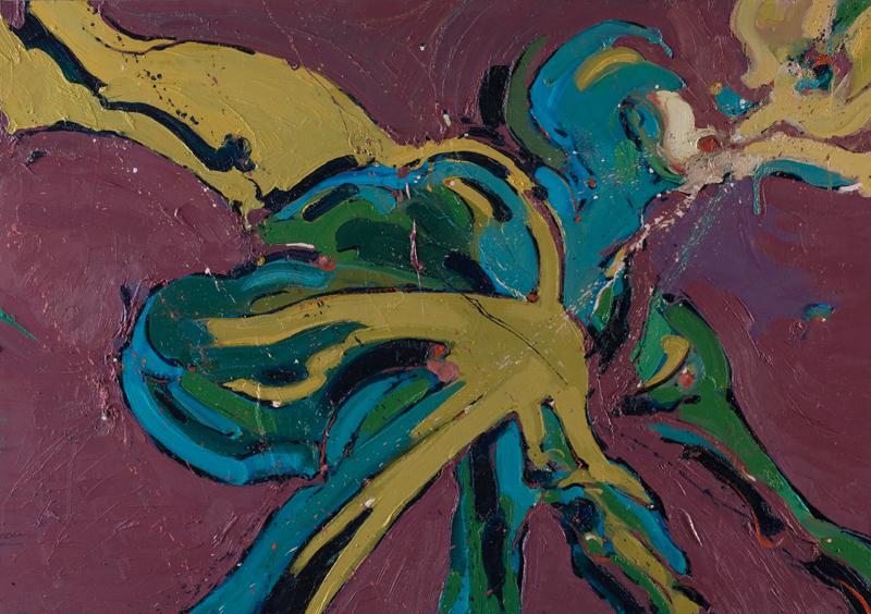 Trkač - ulje na drvu, 100x70 cm - Autor Danijel Drakulić, kontakt: dandrakul@gmail.com)