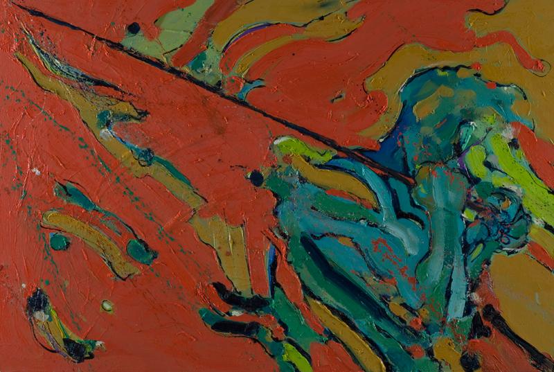 Zastave - ulje na drvu, 100x70 cm - Autor Danijel Drakulić, kontakt: dandrakul@gmail.com)