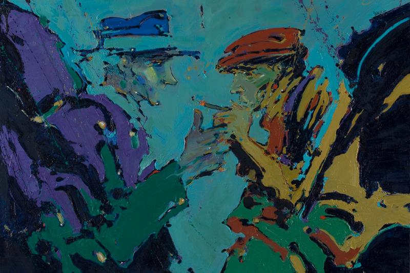 Ortaci - ulje na drvu, 100x70 cm - Autor Danijel Drakulić, kontakt: dandrakul@gmail.com)