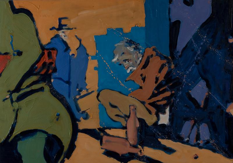 Sumrak - ulje na drvu, 100x70 cm - Autor Danijel Drakulić, kontakt: dandrakul@gmail.com)