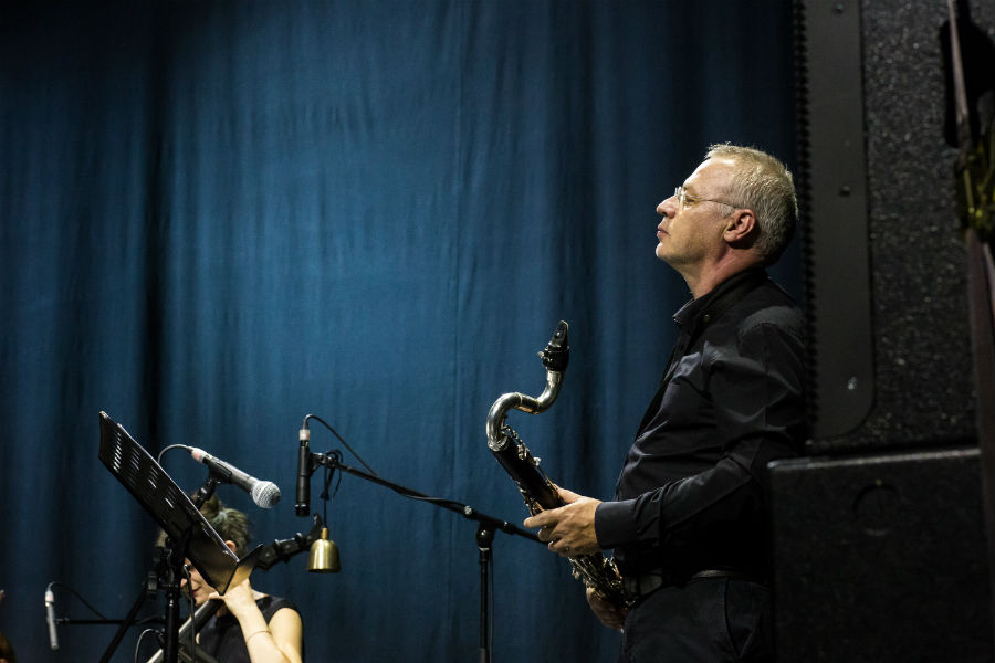 Teho Teardo i Blixa Bargeld u ljubljanskom Kinu Šiška (Foto: Ivan Gundić)
