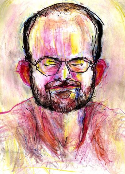 Bryan Lewis Saunders - autoportret, korištene droge: Hydrocodone (7,5 mg), Oxycodone (7,5 mg) i Xanax (3 mg)