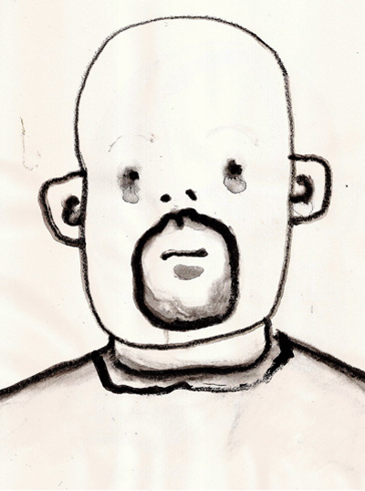 Bryan Lewis Saunders - autoportret, korištena droga: velika čaša Absenta (pravog, ne lažnog)