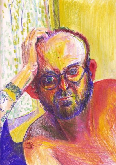 Bryan Lewis Saunders - autoportret, korištena droga: Ambien (10 mg)