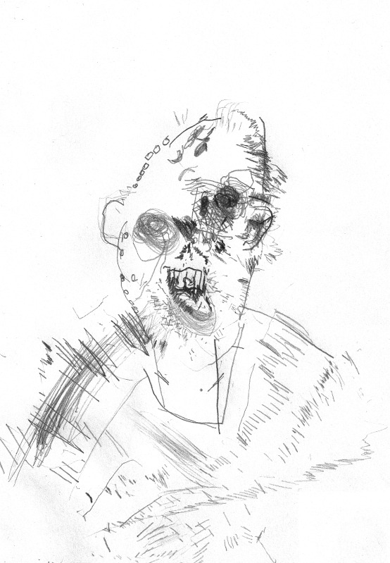 Bryan Lewis Saunders - autoportret, korištena droga: Sol za kupanje