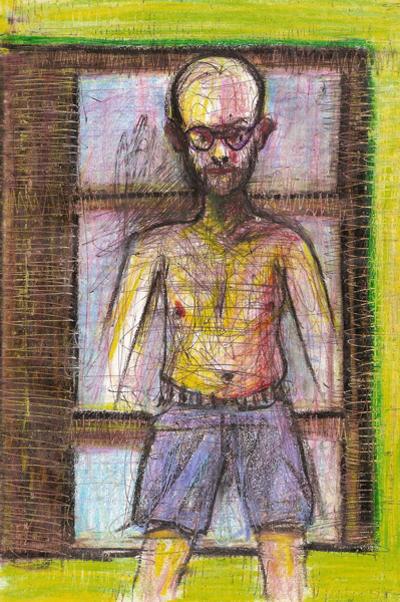 Bryan Lewis Saunders - autoportret, korištena droga: Butalbital (barbiturat, doza nepoznata)